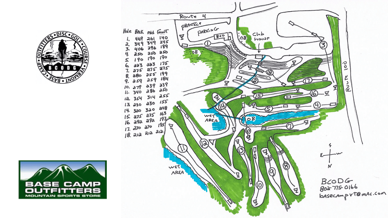 Base camp Disc Golf Map