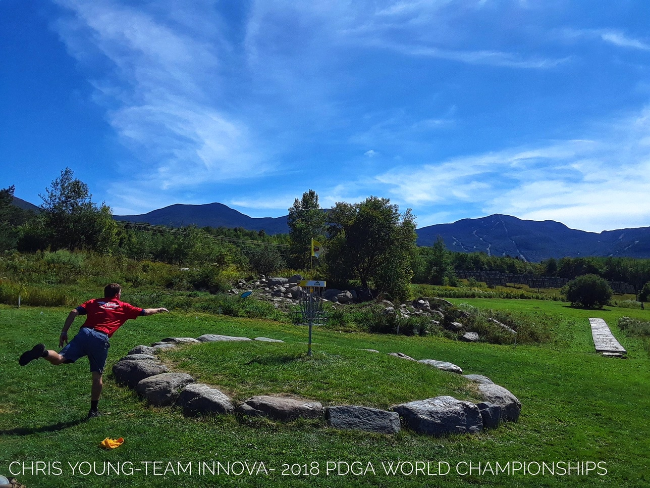 Owner Chris young putting at Worlds