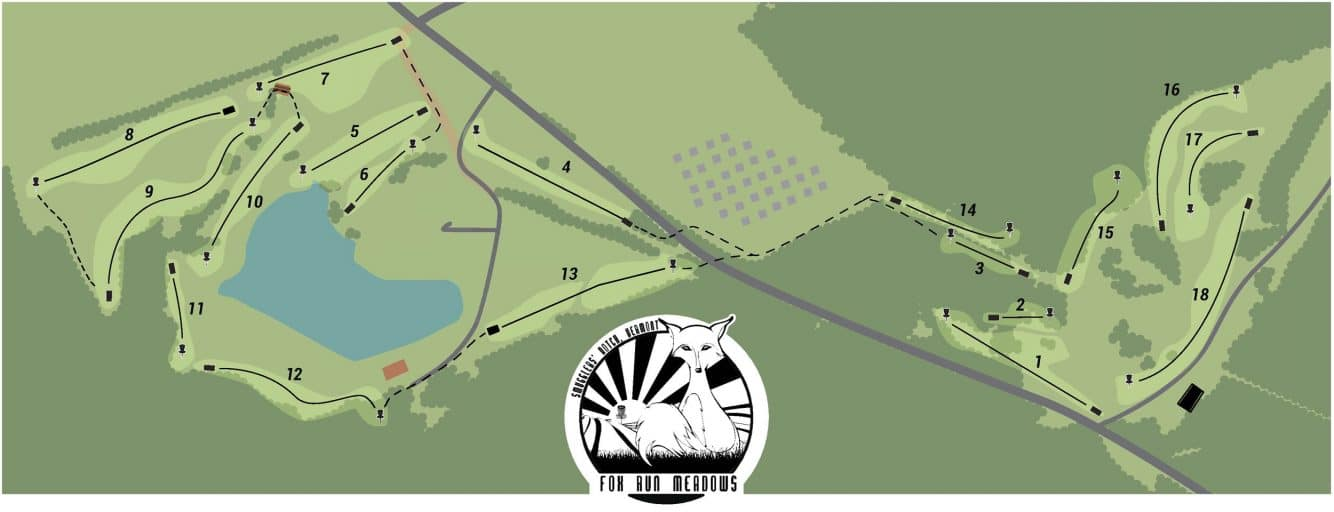 Fox run Meadows Disc golf course map