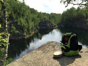 Quarries disc golf course lake